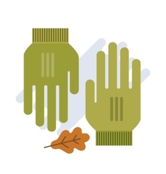 green gloves flat vector image vector image