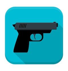 Gun app icon with long shadow vector