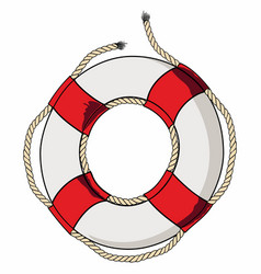 Lifebelt red vector
