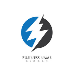 lightning logo template vector image