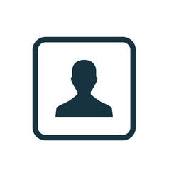 male profile icon Rounded squares button vector image