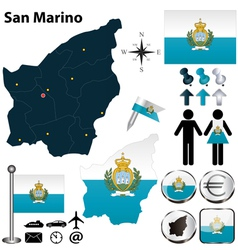 Map of San Marino vector image vector image