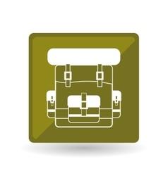 Military bag design vector