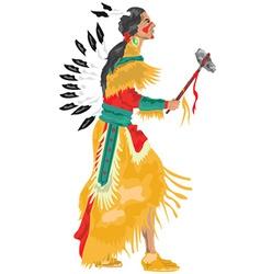Native american cartoon vector