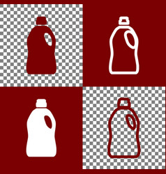 Plastic bottle for cleaning bordo and vector