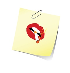 Reminder with lips and cigarette vector