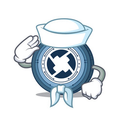 Sailor 0x coin character cartoon vector