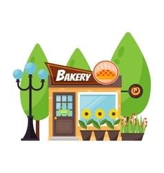 Shop bakery facade vector
