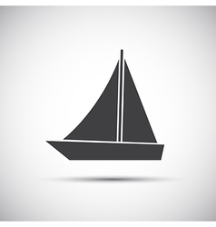 Simple of sailboat vector image