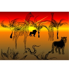 tanzania safari vector image