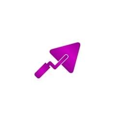 Trowel icon flat vector