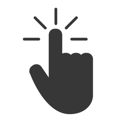 Hand pointer icon vector