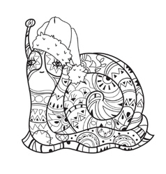 Zen art stylized snail vector