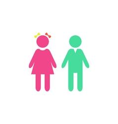 Girl boy Icon vector image