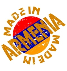 Made in Armenia vector image