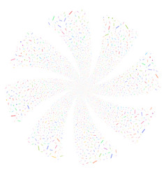 Lines and dots fireworks swirl flower vector