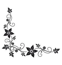 Flowers leaves vector image