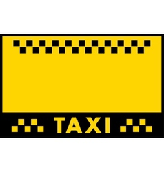 Advertise taxi background vector