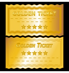 Golden tickets vector