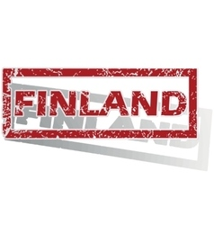 Finland outlined stamp vector
