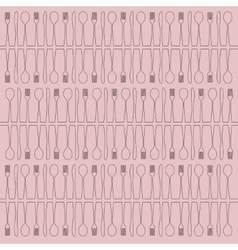 Abstract cutlery background vector