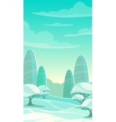 Cartoon winter landscape vector