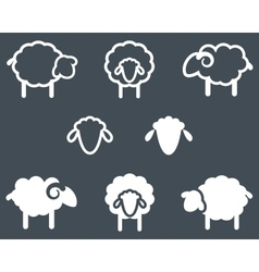 Sheep icon set vector