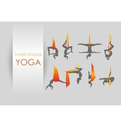 Anti-gravity yoga for women vector
