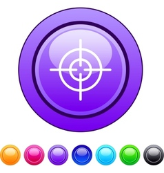 Sight circle button vector