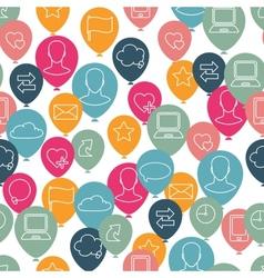 Social media icon pattern vector image