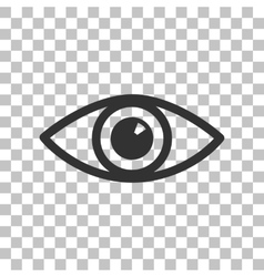 Eye sign  dark gray icon on vector