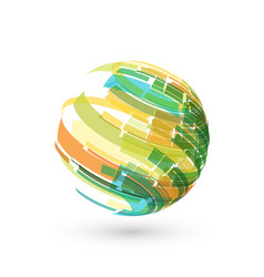 abstract sphere color logo on white vector image