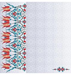 Antique ottoman turkish pattern design ninety six vector