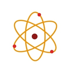 atom chemistry nuclear molecular isolated vector image vector image