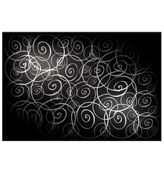 Black vintage wallpaper with spiral pattern vector