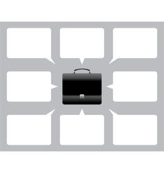 Briefcase and bubble speech vector image vector image