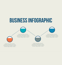 Business infographic data chart style vector