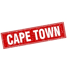Cape town red square grunge vintage isolated stamp vector