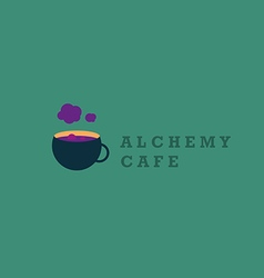 Creative logo on alchemy and unusual cafe vector
