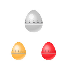 egg kitchen timers isolated vector image vector image