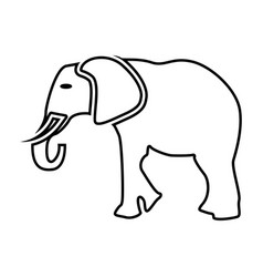 Elephant black color icon vector