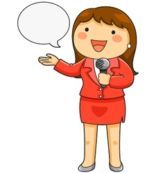 female TV reporter vector image vector image