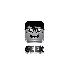 geek guy avatar portrait vector image vector image