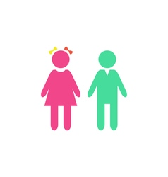 Girl boy Icon vector image