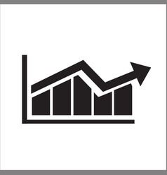 graph bar graph icon vector image