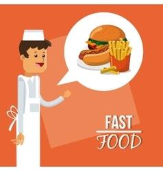 Hamburger and fast food design vector