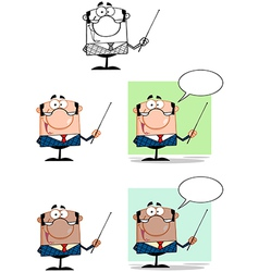 Manager Gesturing With A Pointer Stick Collection vector image