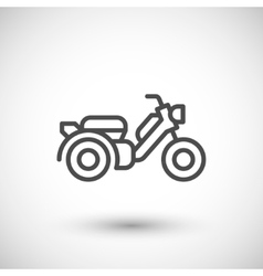 Modern scooter line icon vector image vector image