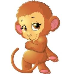 monkey sitting on a white background vector image
