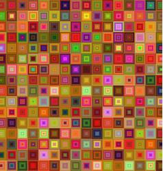 Multicolor square tile mosaic background vector